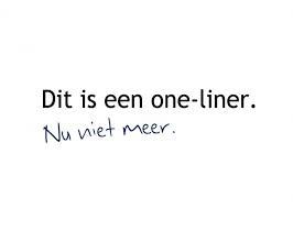 oneliner